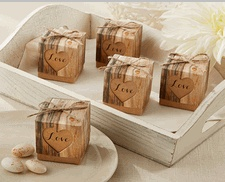 Hearts In Love Rustic Favor Boxes - Diy Favor Boxes For Weddings