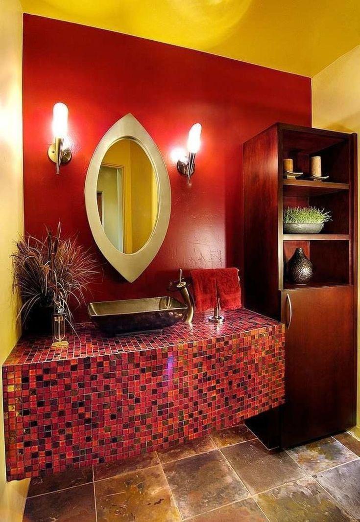 Красные ванные комнаты – Вдохновение