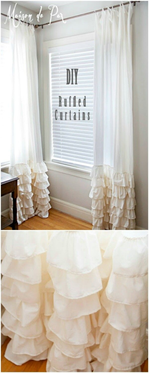 DIY Ruffled Curtains
