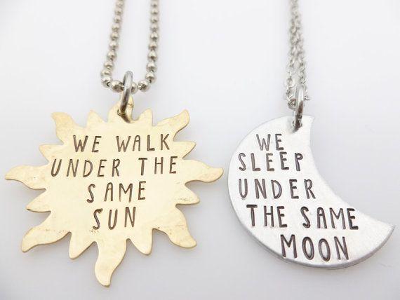Longue Distance, relation de couple ensemble, Long Distance Love, sous la même lune, sous le même soleil, allez cadeau promotionnel, cadeaux de longue distance