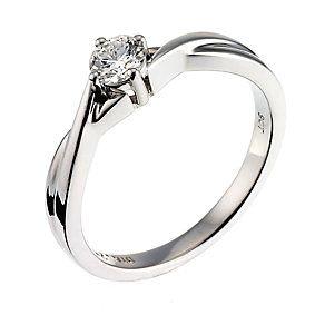 9ct White Gold Quarter Carat Diamond Solitaire Ring