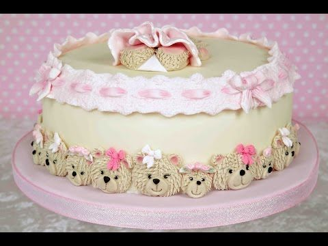 Karen Davies Cake Decorating Fondant Moulds / molds. Beginners tutorial / how to - Elizabeth lace - YouTube