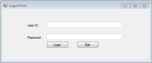 Different ways of creating login form in Windows Forms using C# « Fresher2Programmer