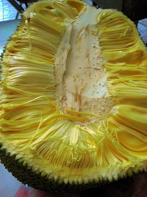 Langka (Ilocano and Tagalog), Jackfruit. We also boil the seeds after to eat it too.