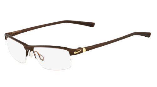 NIKE Eyeglasses 6050 259 Satin Brown 53MM Nike.