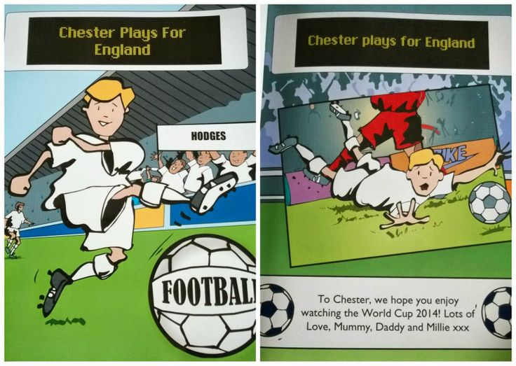 Penwizard personalised children's books - Personalised Football book @Oneblueonepink