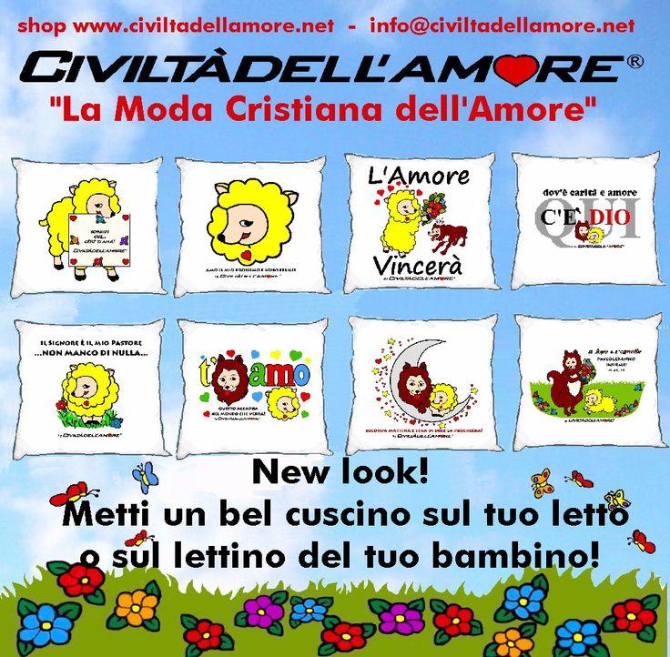 Un cuscino... per ricordare che siamo costruttori del tempo della Civiltà dell'Amore! Per questi modelli segui la guida all'acquisto: http://www.civiltadellamore.net/guida-allacquisto/