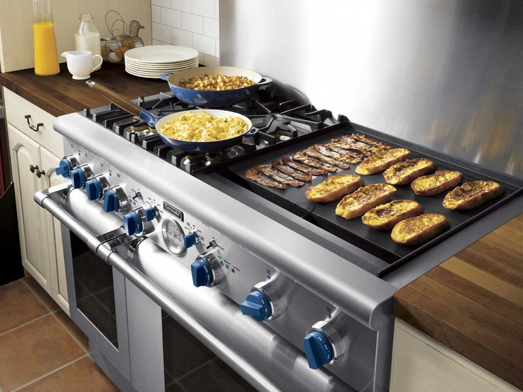 """commercial Thermador gas range  