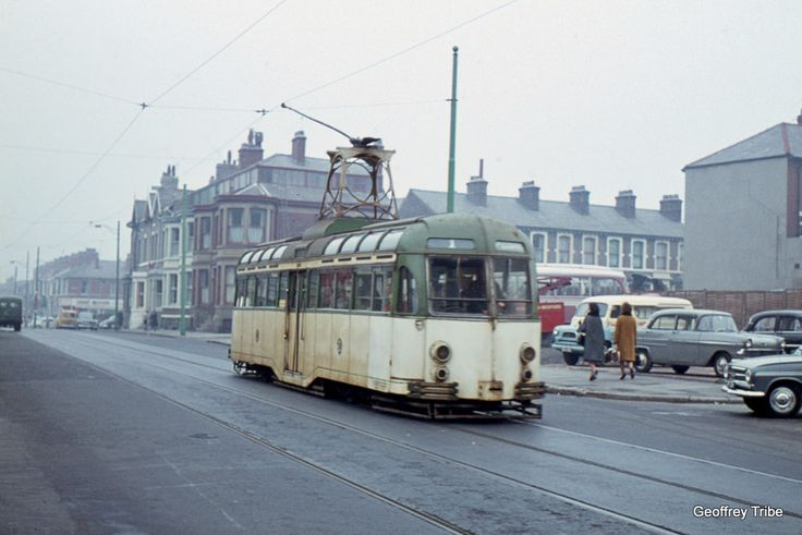 https://flic.kr/p/LHhn2R | Blackpool - Dickson Road 1963 | A Brush Railcoach on route 1 is inbound to North Station in October 1963.