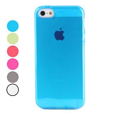 transparente TPU caso suave para el iphone 5/5s (colores surtidos) – EUR € 3.39