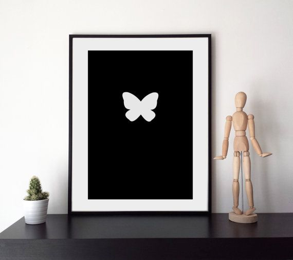Butterfly  Printable Graphics  Instant Download di HubLab su Etsy