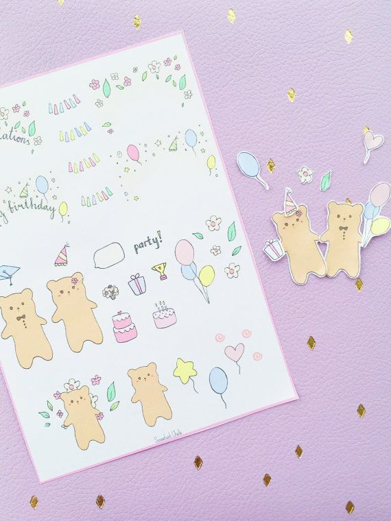 Cute Printable DIY Stickers for Planner / by SweetestChelle