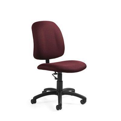 Global Total Office Goal Desk Chair Upholstery: Traditional Vinyl Forest Green
