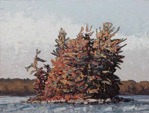 "Gull Rocck Island 80x60"" oil on canvas"