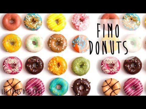 ▶ Tutoriel 16 : Réaliser un Donut en Fimo / Clay doughnut. - YouTube
