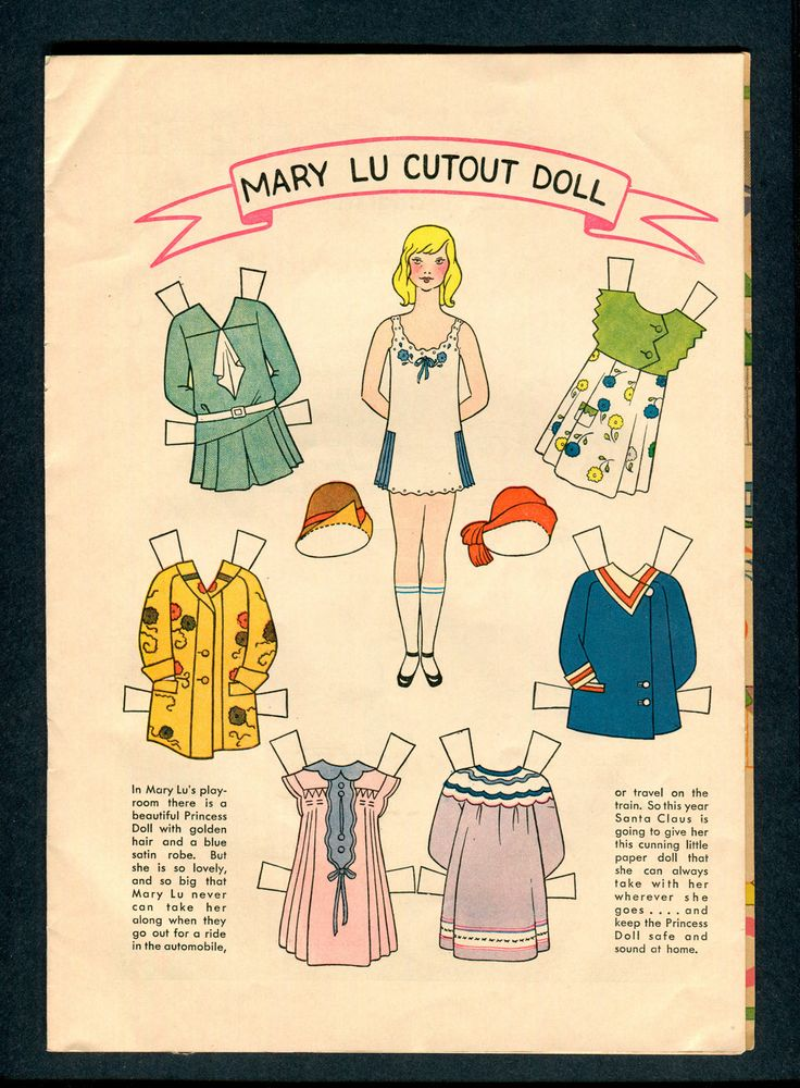 1929 JC Penney Store Xmas Booklet Mary Lu Paper Doll