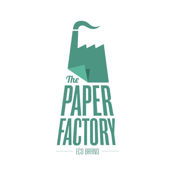 This teal coloured logo belongs to the business 'The Paper Factory' and was designed by Biesmans Antoine. This logo is very well done, the designer has incorporated a piece of paper and a factory which of course = The Paper Factory! #amazinglogos #greenlogos