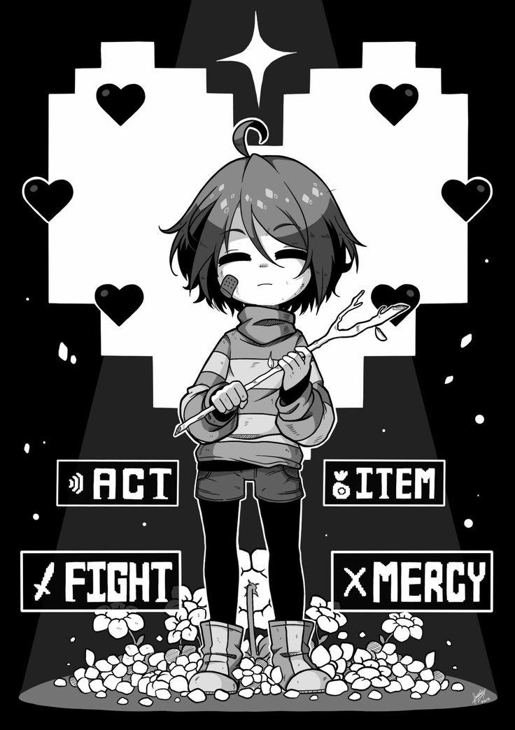 Undertale - Frisk (Fight, Act, Item, Mercy)