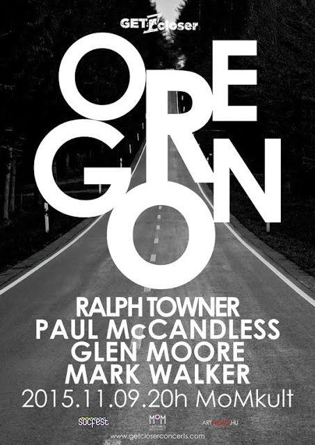 Plakát104: MOMkult: Oregon koncert