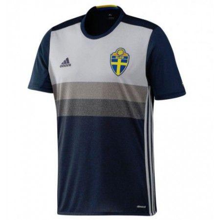 Sverige 2016 Borte Drakt Kortermet.  http://www.fotballteam.com/sverige-2016-borte-drakt-kortermet.  #fotballdrakter