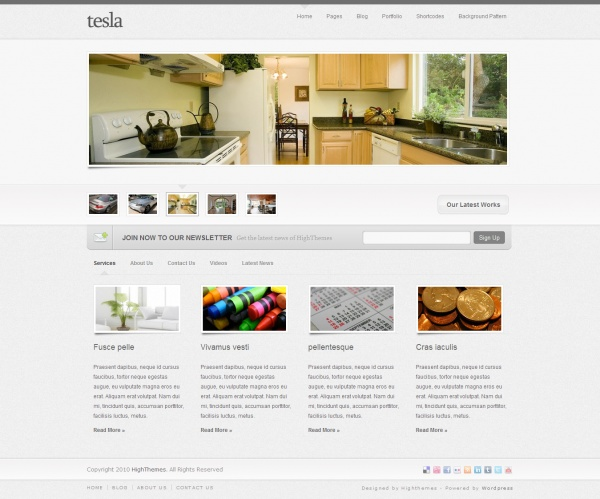 Tesla WordPress Theme