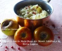 Risotto alla Mela Rosa dei Monti Sibillini con Birra Ladeisi