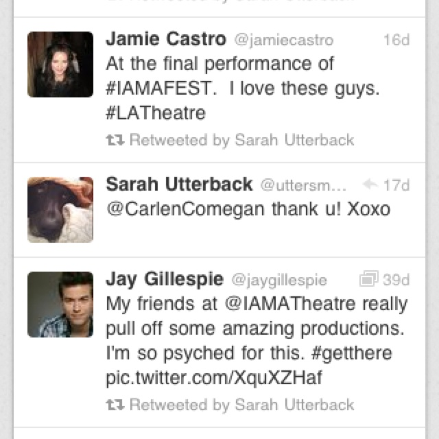 I know this was awhile ago but-OMG SARAH UTTERBACK TWEETED TO ME!!!!!!!!!!