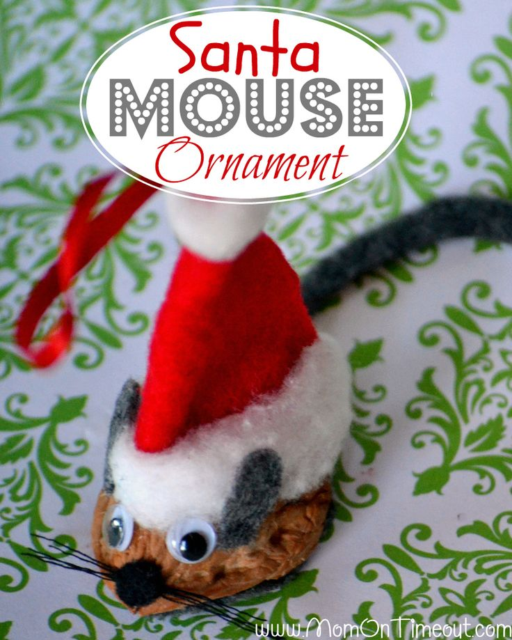 Santa Mouse Ornament from MomOnTimeout.com