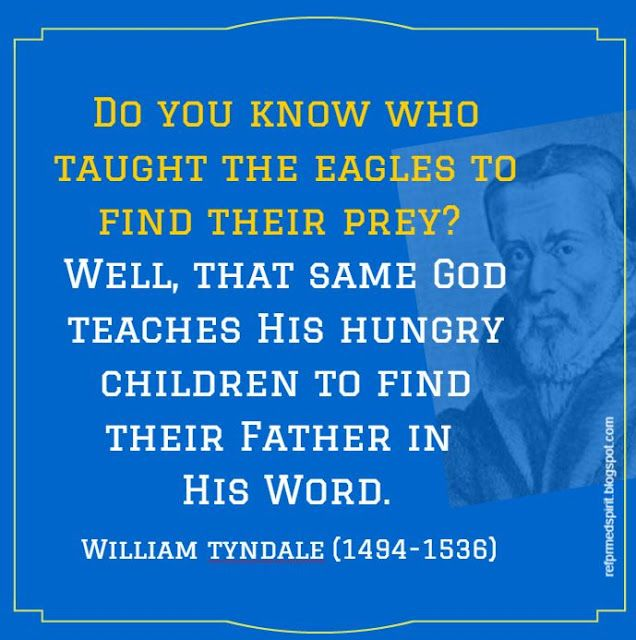William Tyndale (1494–1536) was an English scholar who became a leading figure in Protestant reform in the years leading up to his execution. He is well known for his translation of the Bible into English. He was influenced by the work of Desiderius Erasmus, who made the Greek New Testament available in Europe, and by Martin Luther.