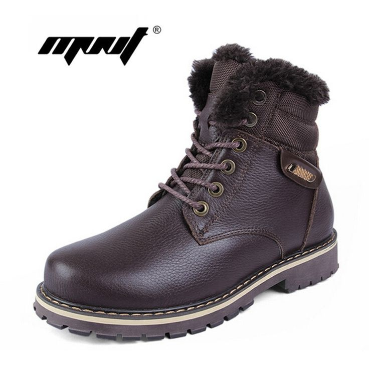 53.94$  Watch now - http://aliio8.shopchina.info/1/go.php?t=32396783611 - High quality full grain leather men winter boots,handmade fashion men snow boots plus size super warm velvet winter shoes  #shopstyle