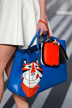 The Kellogg's Frosties Featherweight Ebury and the Allsorts Clutch at the Anya Hindmarch #AW14 #LFW show