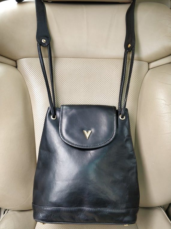 Mario Valentino Italy Vintage Black Leather Bucket Bag Etsy In 2020 Leather Bucket Bag Mario Valentino Leather Bucket