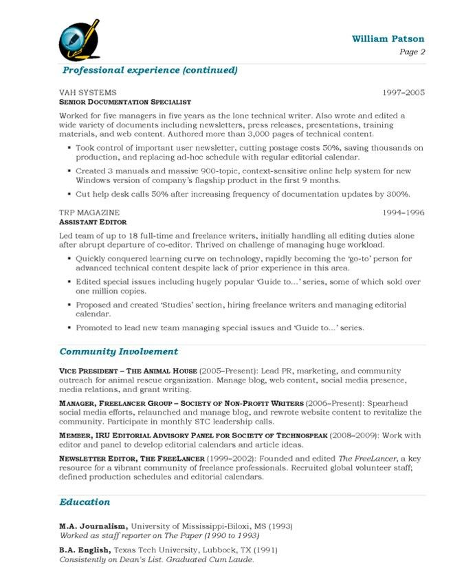 16 best images about media  u0026 communications resume samples on pinterest