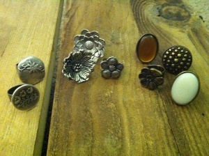 Cute! Rings made out of buttons!