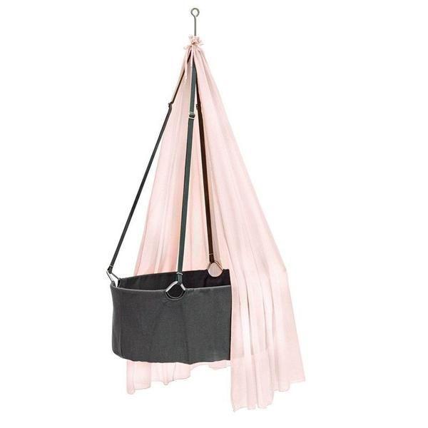 Leander  Babywiege  Grau/Soft Pink