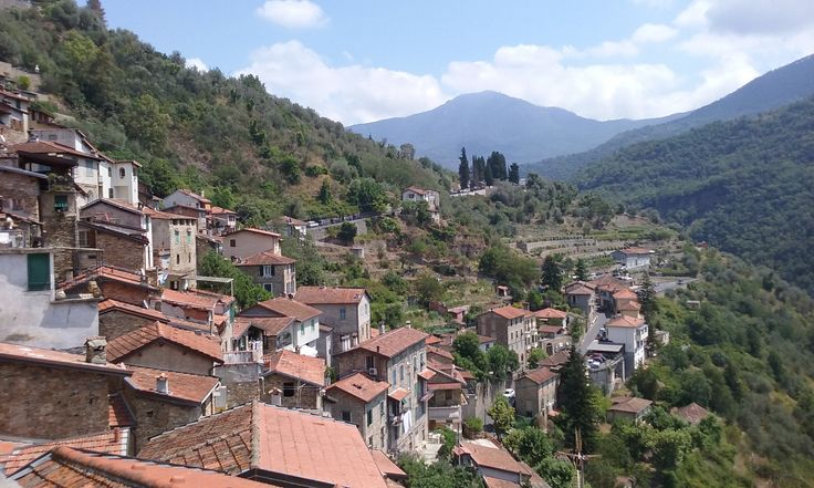 Scenic view from Apricale, nestled in the Nervia Valley of Liguria.