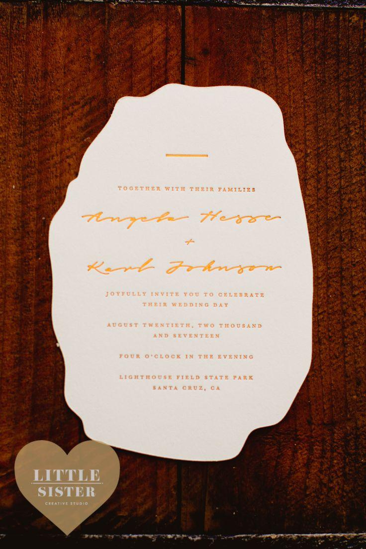 sister marriage invitation letter format%0A Romantic Bohemian Copper Foiled Bar Wedding Invitations  by Little Sister  Creative Studio Die Cut  u