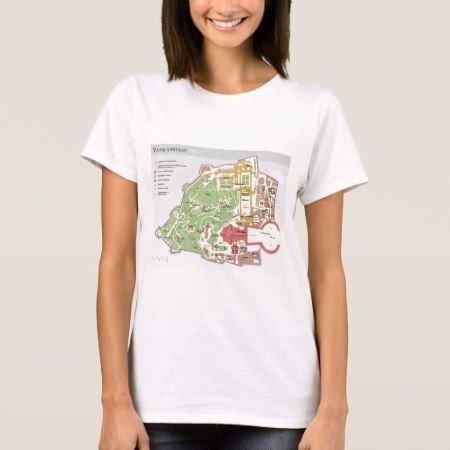 Karte der Vatikanstadt Vatican City Diagram T-Shirt - click/tap to personalize and buy.