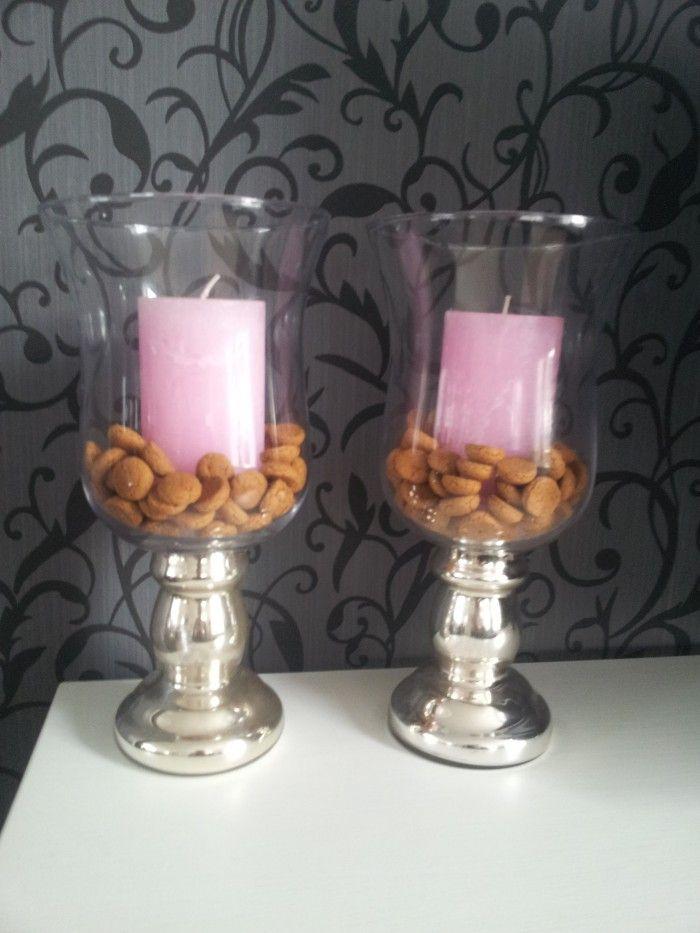 Sinterklaas is jarig.....♫♪ Alle glazen vullen met pepernoten!  Simpel, mooi en lekker.