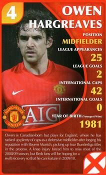 2010 Top Trumps Specials Manchester United #NNO Owen Hargreaves Front