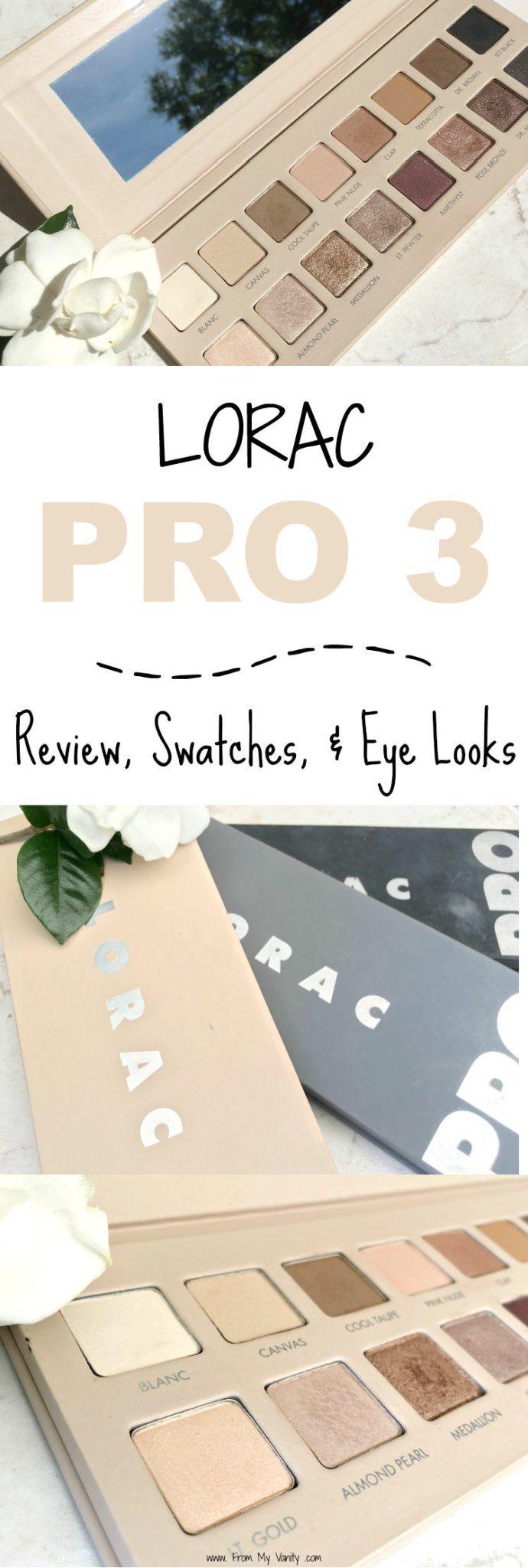 The LORAC PRO 3 palette looks stunning -- like a nude lovers dream!