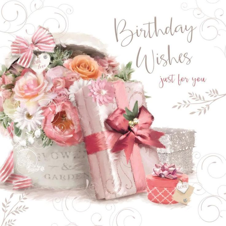 Details about Happy Birthday Wishes Flowers Presents