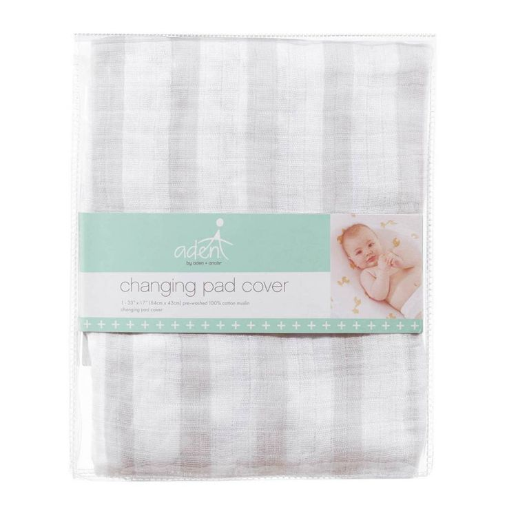 product image for aden® by aden + anais® Changing Pad Cover in Grey Stripe