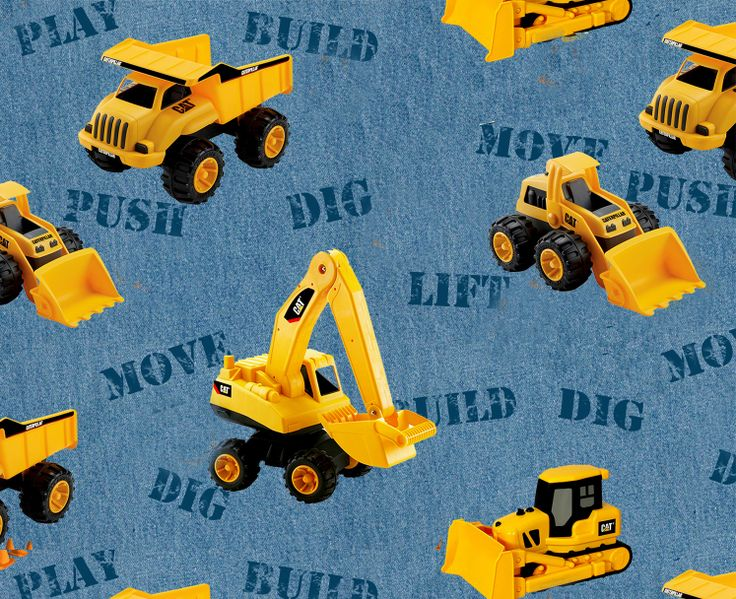 Cat Toy Machines Cotton Fabric Tractor Fabric