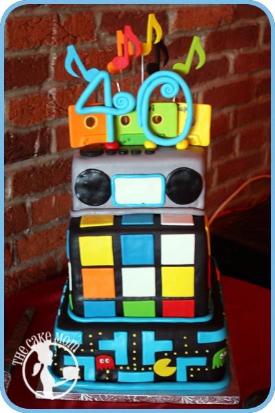 The 80's Birthday Cake80S Birthday, 40Th Birthday, 40 Birthday Cake Ideas, 80S Cake, Parties Cake, Parties Ideas, 80 S Cake, 80S Parties, Cake Mom