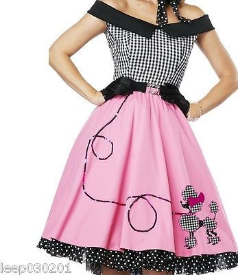 Ladies rock n roll #1950s #poodle grease fancy dress #skirt pink lady costume 50 ,  View more on the LINK: http://www.zeppy.io/product/gb/2/262033180573/