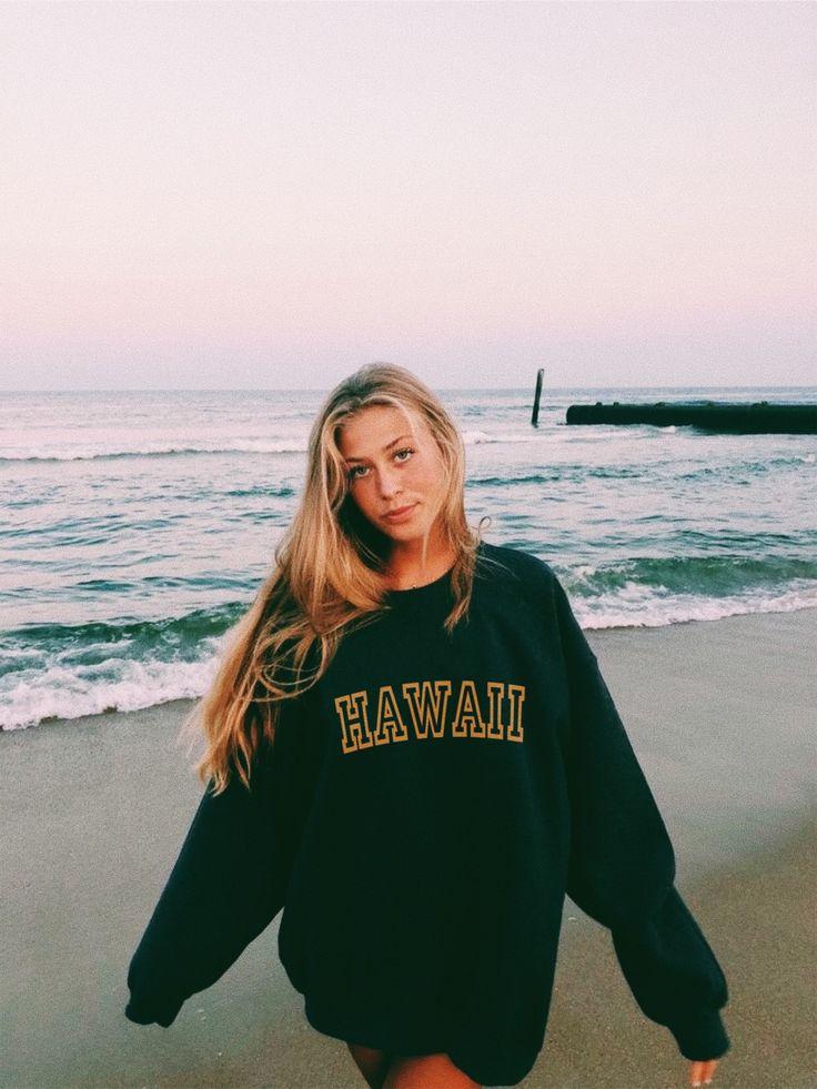 Hawaii Sweatshirt   Beachy outfits, Beachy girl, Vsco outfits