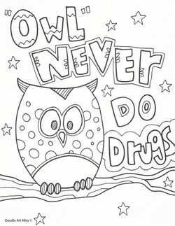 anti drug coloring pages printable - photo#17
