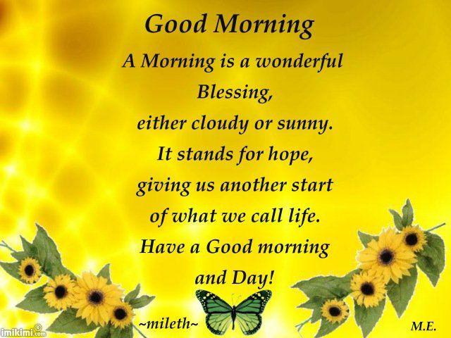 ... daytime greetings | Pinterest | Good Morning, Morning Quotes an