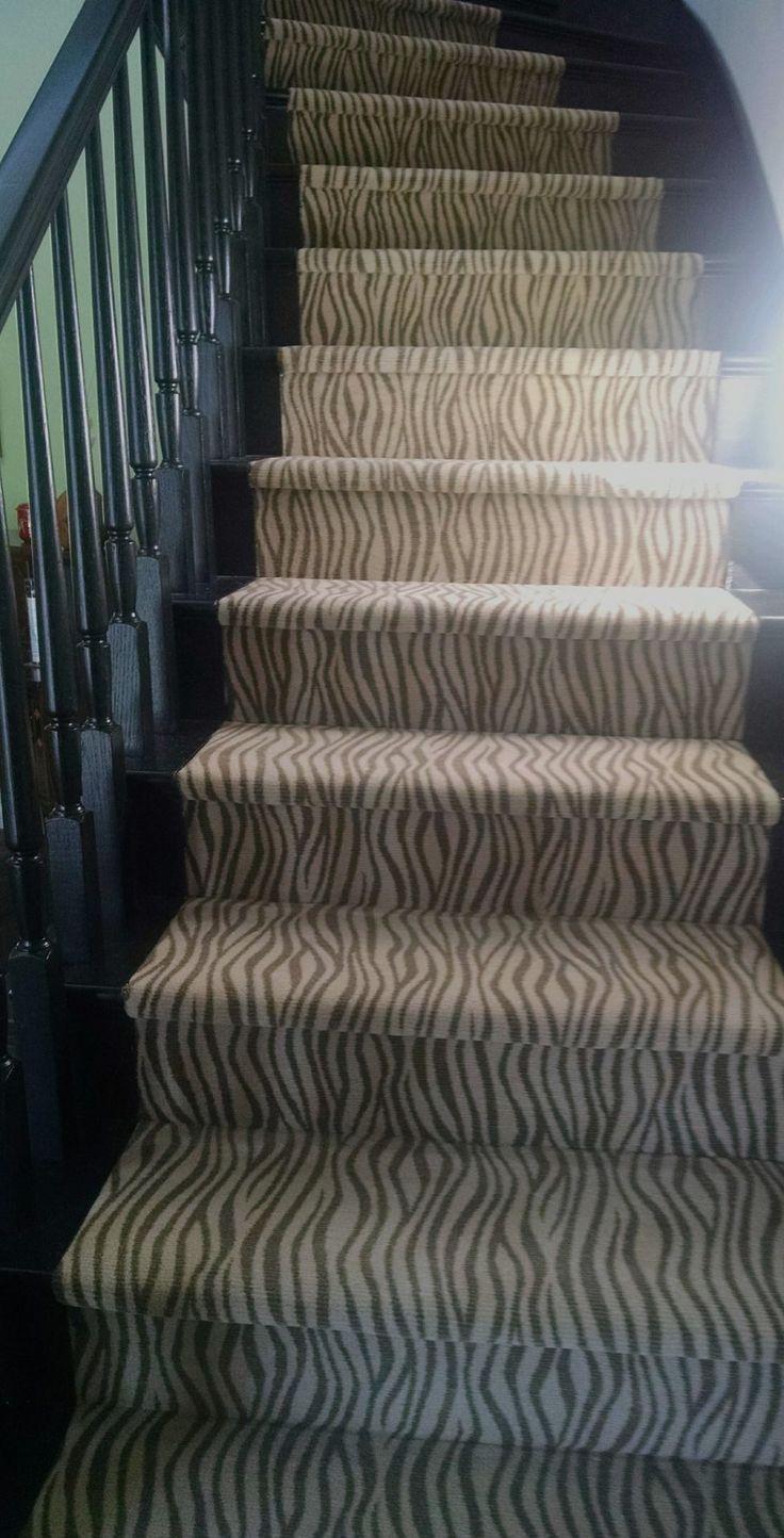 108 best stair runners images on pinterest stair runners for Zebra print flooring